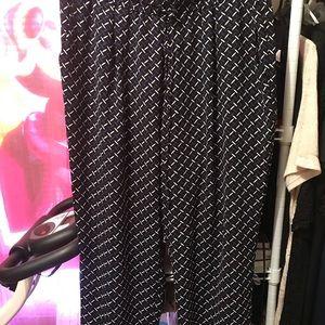 Pants - Women's Roy and Rachel pants black purple white XL